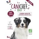 Canichef croquettes BIO sans céréales, sans gluten chien grande race 5kg - La Compagnie des Animaux