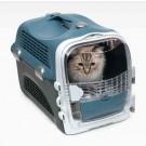 Cat It Cage de transport Cabrio Gris / Bleu pour chat