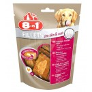 8in1 Fillets Pro Skin & Coat pour chien 80 g MULTIPACK lot de 8