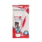 Beaphar COMBI-PACK : dentifrice + brosse à dents pour chien et chat