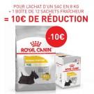 Offre Royal Canin: 1 sac Canine Care Nutrition Mini Dermacomfort 8 kg + 12 sachets Dermacomfort mousse achetés = 10€ de remise immédiate
