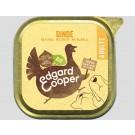 Edgard & Cooper Barquette Dinde Bio pour chien 17 x 100 g- La Compagnie des Animaux