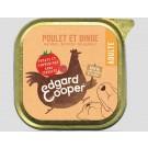 Edgard & Cooper Boite Poulet et Dinde Chien adulte 11 x 150 g - La Compagnie des Animaux