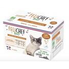 Felichef Coffret Mousses gourmandes BIO sans céréales Chat 4 x 200 g