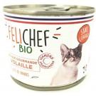 Felichef Mousses gourmandes BIO volaille pour chat 12 x 200 grs - La Compagnie des Animaux