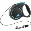 Flexi Black Design Laisse corde XS bleu 3 m