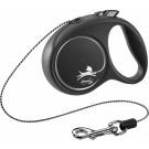 Flexi Black Design Laisse corde M noir 5 m