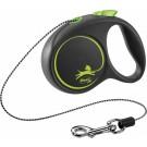 Flexi Black Design Laisse corde S vert 5 m