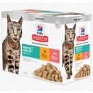 Hill's Science Plan Feline Perfect Weight Pack mixte Poulet Saumon Sachet Repas 12 x 85 g