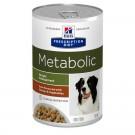 Hill's Prescription Diet Canine Metabolic mijotés au gout de poulet et de légumes 12 x 354 grs- La Compagnie des Animaux