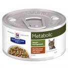 Hill's Prescription Diet Feline Metabolic mijotés au gout de poulet et de légumes 24 x 82 grs