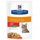 Hill's Prescription Diet Feline C/D Urinary Stress LIGHT Poulet SACHETS 12 x 85 grs- La Compagnie des Animaux