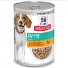 Hill's Science Plan Canine Perfect weight Poulet & Veg Can 12 x 363 g