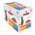 Hill's Science Plan Feline Adult Light Pack Mixte sachets 12 x 85 grs- La Compagnie des Animaux