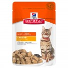 Hill's Science Plan Feline Adult Optimal Care Poulet sachets 12 x 85 grs- La Compagnie des Animaux
