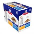 Hill's Science Plan Feline Mature Adult 7+ Pack Mixte sachets 12 x 85 grs- La Compagnie des Animaux