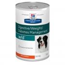 Hill's Prescription Diet Canine W/D au poulet 12 x 370 grs- La Compagnie des Animaux