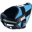 I-DOG Harnais neo-CAM Bleu/Gris L - Dogteur