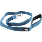 I-DOG Laisse Confort Elastique Bleu/Gris 120 cm - Dogteur