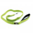 I-DOG Laisse Confort Elastique Vert/Gris 120 cm - La Compagnie des Animaux