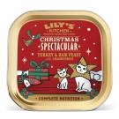 Lily's Kitchen Noel Plateau de dinde et jambon pour chat sans céréales 19 x 85 g- La Compagnie des Animaux