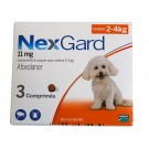 Nexgard Chiens 2 à 4 kg 3 cps