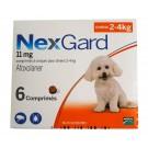 Nexgard S Chiens 2 à 4 kg 6 cps