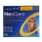 Nexgard Spectra Chiens S 3,5 à 7,5 kg 3 cps