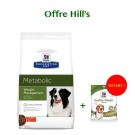 Offre : Hill's Prescription Diet Canine Metabolic 12 kg = Hill's Treats Healthy Weight 220 g OFFERT
