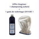 Offre Dogteur: 1 Shampooing PRO Dogteur Amandes bleues 250 ml acheté = 1 gant de toilettage offert