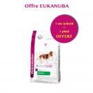 Offre Eukanuba: 1 sac Daily Care Chien Senior 9+ 2.5 kg acheté = 1 plaid offert
