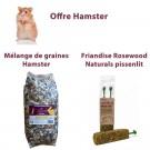 Offre Hamster: 1 Mélange de Graines hamster 1 kg + 1 Friandise pissenlit 120 g