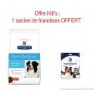 Offre : Hill's Prescription Diet Canine Derm Defense 12 kg = Hill's Treats HypoAllergenic 220 g OFFERT
