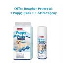 Offre Propreté: 1 Puppy Pads Tapis Propreté pour chiens 30 pcs + 1 « Attrac'Spray » Spray Educateur propreté pour Chien et Chat 250 ml