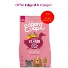 Offre Edgard & Cooper: 1 sac Croquettes Canard et Poulet frais sans céréales Chiot 12 kg acheté = 1 sac de 2,5 kg offert