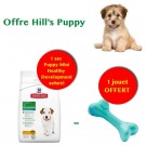 Offre Hill's Puppy: 1 sac Science Plan Puppy Mini Healthy Development au poulet 3 kg acheté = 1 jouet Orbee-Tuff Bone L offert