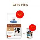 Offre Hill's: 1 sac Prescription Diet Canine J/D 12 kg acheté = 2 boites Metabolic + Mobility mijotés thon et légumes offertes