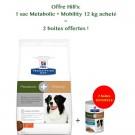 Offre Hill's: 1 sac Prescription Diet Canine Metabolic + Mobility 12 kg acheté = 2 boites Metabolic + Mobility mijotés thon et légumes offertes- La Compagnie des Animaux