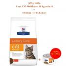 Offre Hill's: 1 sac Prescription Diet Feline C/D Multicare au poulet 10 kg acheté = 4 boites Metabolic mijotés poulet et légumes offertes- La Compagnie des Animaux