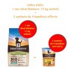 Offre Hill's: 1 sac Ideal Balance Canine Adult Sans Céréales thon et pomme de terre 12 kg acheté = 2 sachets de Friandises OFFERTS