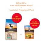 Offre Hill's: 1 sac Ideal Balance Canine Adult Mini Sans Céréales thon et pomme de terre 2 kg acheté = 1 sachet de Friandises offert