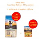 Offre Hill's: 1 sac Ideal Balance Canine Puppy Sans Céréales poulet et pomme de terre 12 kg acheté = 2 sachets de Friandises OFFERTS