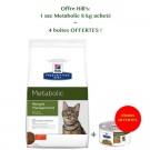 Offre Hill's: 1 sac Prescription Diet Feline Metabolic 8 kg acheté = 4 boites Metabolic mijotés au poulet et légumes offertes- La Compagnie des Animaux