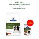 Offre Hill's: 1 sac Prescription Diet Canine Metabolic 12 kg acheté = 2 boites Metabolic mijotés poulet et de légumes offertes