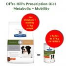 Offre Hill': 1 sac Prescription Diet Canine Metabolic + Mobility 12 kg acheté = 2 boites Metabolic 370 g offertes