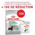 Offre Royal Canin: 1 sac Canine Care Nutrition Mini Digestive Care 8 kg + 12 sachets Digestive Care mousse achetés = 10€ de remise immédiate