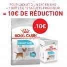 Offre Royal Canin: 1 sac Canine Care Nutrition Mini Urinary Care 8 kg + 12 sachets Urinary Care mousse achetés = 10€ de remise immédiate