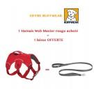 Offre: 1 Harnais Ruffwear Web Master Rouge S acheté = 1 laisse OFFERTE