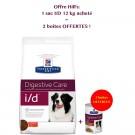 Offre Hill's: 1 sac Prescription Diet Canine I/D 12 kg acheté = 2 boites I/D mijotés au poulet offertes- La Compagnie des Animaux
