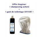 Offre Dogteur: 1 Shampooing PRO Dogteur Cade 500 ml acheté = 1 gant de toilettage offert